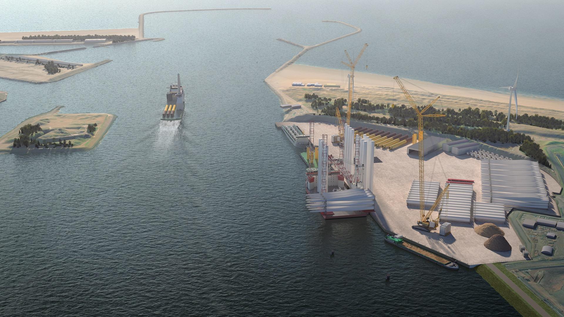 Nieuwe Energiehaven pol plaats Averijhaven