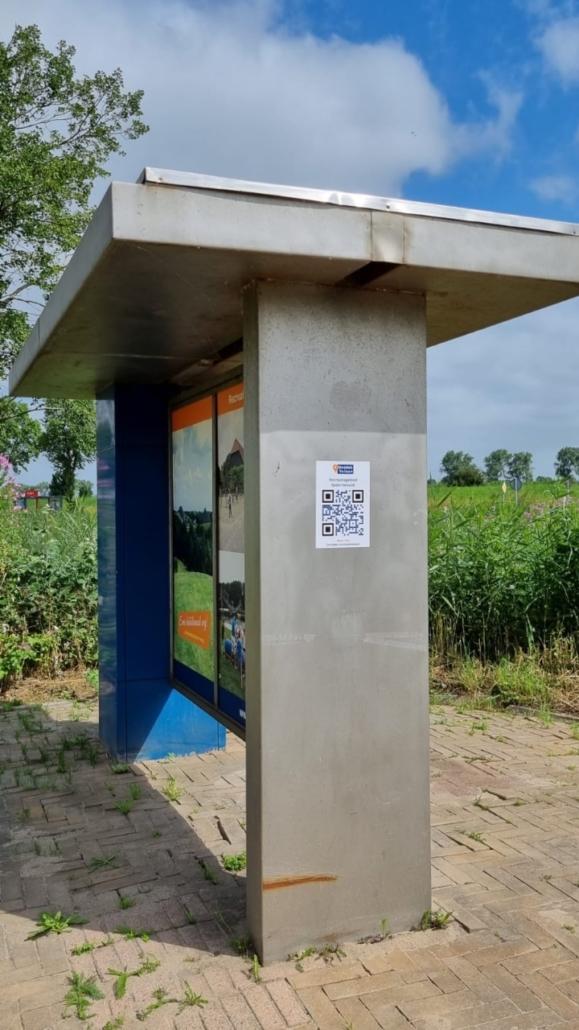 Fietsroute Ontdek Velsen aangegeven met QR-codes